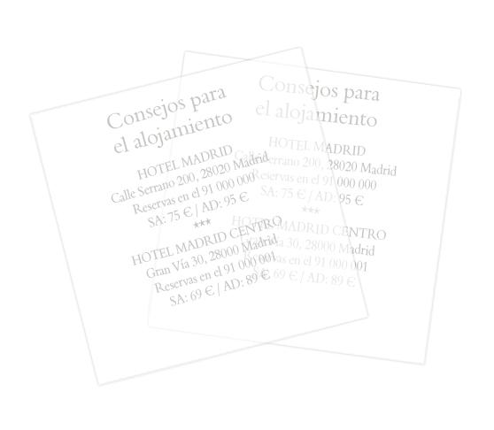Papel transparente cuadrado