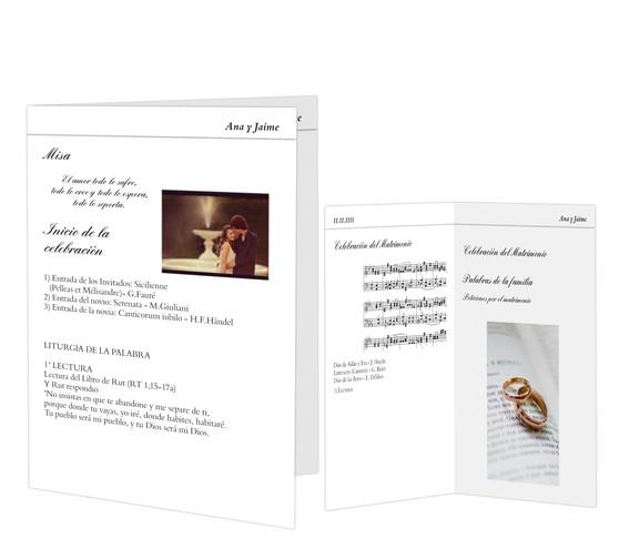 Páginas interiores para misales de boda