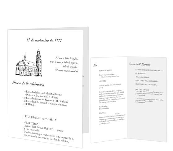 Páginas interiores de misales de boda